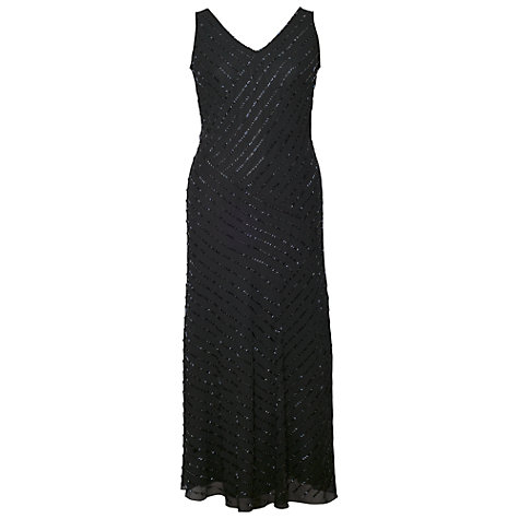 Buy Chesca Diagonal Stripe Dress, Black Online at johnlewis.com