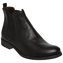 Buy Dune Paddy Leather Chelsea Ankle Boots, Black Online at johnlewis.com