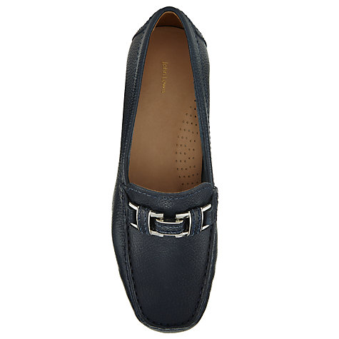 Buy John Lewis Luxembourg Leather Loafers, Navy Online at johnlewis.com