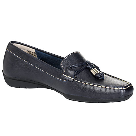 Buy John Lewis Moscow Leather Metal Tipped Trim Moccasins Online at johnlewis.com