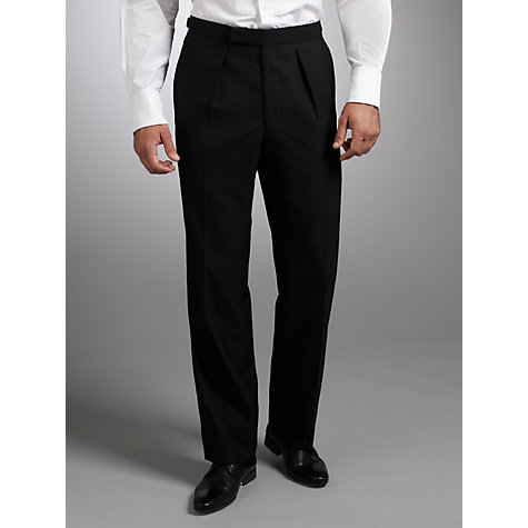 Buy Chester Barrie Savile Row Dress Suit Trousers, Black Online at johnlewis.com