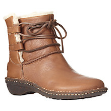 Buy UGG Caspia Leather Wrapped Lacing Ankle Boots, Brown Online at johnlewis.com