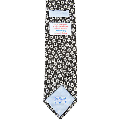 Buy Penrose London Glyndebourne Flower Tie, Black Online at johnlewis.com