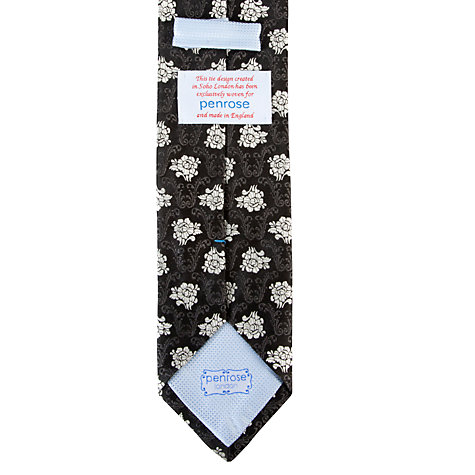 Buy Penrose London Glyndebourne Ornate Tie, Black Online at johnlewis.com