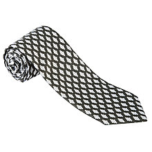 Buy Penrose London Opera Square Diamond Tie, Black Online at johnlewis.com