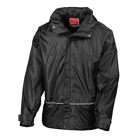Buy School Unisex Waterproof Jacket, Black Online at johnlewis.com