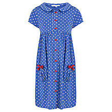 Buy John Lewis Girl Button-Through Spotted Dress Online at johnlewis.com
