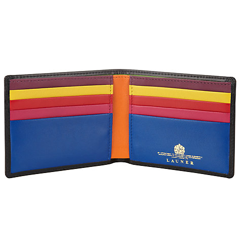 Buy Launer Leather Bi-Fold 8 Card Wallet, Black Online at johnlewis.com