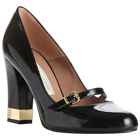 Buy Pied A Terre Aubery Patent Buckle Court Shoes, Black Online at johnlewis.com