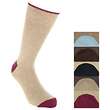 Buy John Lewis Bobby Heel and Toe Socks, Pack of 5, Stone Online at johnlewis.com