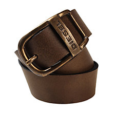 Buy Diesel Wapr Service Leather Belt Online at johnlewis.com