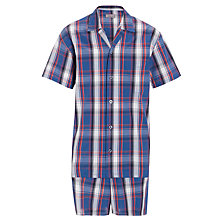 Buy John Lewis Shortie Bobby Pyjamas, Blue/Red Online at johnlewis.com