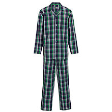 Buy John Lewis Woven Diego Pyjamas, Navy/Green Online at johnlewis.com