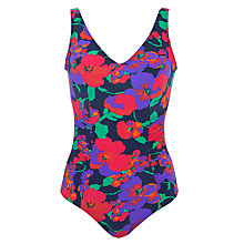 Buy John Lewis Control Side Ruched Swimsuit, Multi Online at johnlewis.com