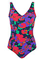 Buy John Lewis Control Side Ruched Swimsuit, Multi, 18 Online at johnlewis.com
