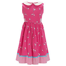 Buy John Lewis Girl Flamingo Peter Pan Dress, Pink Online at johnlewis.com