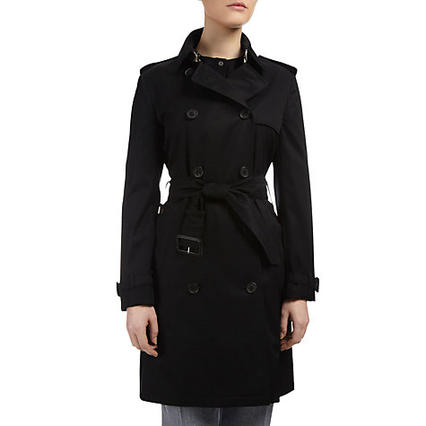 Buy Aquascutum Franca Double Breasted Coat, Black Online at johnlewis.com