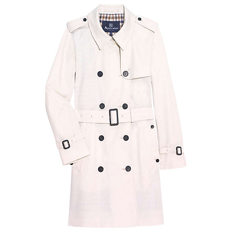 Buy Aquascutum Franca Double Breasted Coat, Cream Online at johnlewis.com
