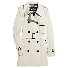 Buy Aquascutum Jennifer Double-Breasted Coat, Cream Online at johnlewis.com