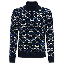 Buy Joe Casely-Hayford for John Lewis Aztec Fair Isle Jumper, Navy Online at johnlewis.com