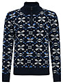 Buy Joe Casely-Hayford for John Lewis Aztec Fair Isle Jumper, Navy, M Online at johnlewis.com