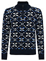 Joe Casely-Hayford for John Lewis Aztec Fair Isle Jumper, Navy