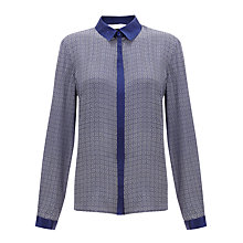 Buy COLLECTION by John Lewis Caroline Blouse, Blue/Vanilla Online at johnlewis.com