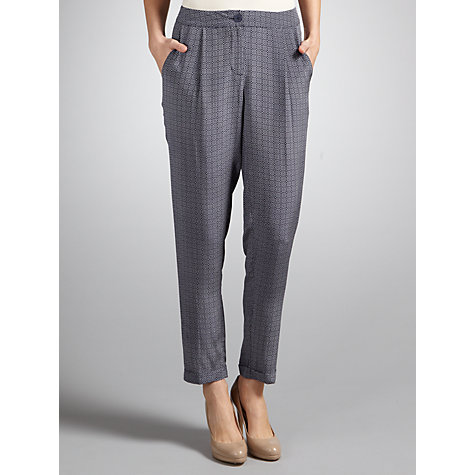 Buy COLLECTION by John Lewis Jo Trousers, Blue/Vanilla Online at johnlewis.com