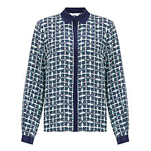 Buy COLLECTION by John Lewis Caroline Blouse, Green/Ivory Online at johnlewis.com