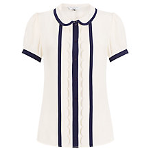Buy COLLECTION by John Lewis Cara Blouse, Ivory/Navy Online at johnlewis.com