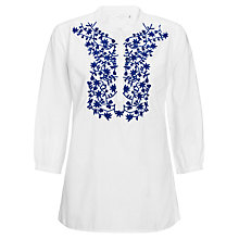 Buy Collection WEEKEND by John Lewis Embroidered Leaf Top Online at johnlewis.com