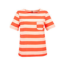Buy Collection WEEKEND by John Lewis Stripe Shell Top, Orange Online at johnlewis.com