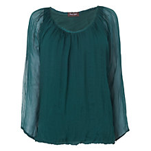 Buy Phase Eight Made in Italy Devany Silk Blouse, Holly Online at johnlewis.com