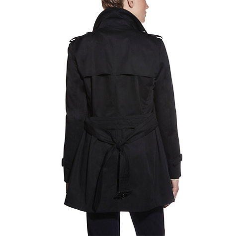 Buy Aquascutum Jennifer Double Breasted Coat, Black Online at johnlewis.com
