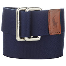 Buy Polo Ralph Lauren Canvas Leather Tab Belt Online at johnlewis.com