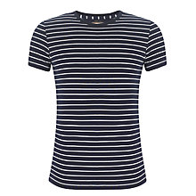 Buy Polo Ralph Lauren Stripe Short Sleeve T-Shirt, Navy/white Online at johnlewis.com