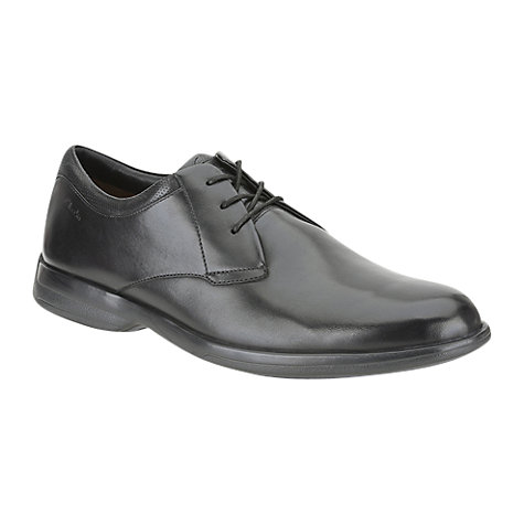 Buy Clarks General Walk Leather Derby Shoes, Black Online at johnlewis.com