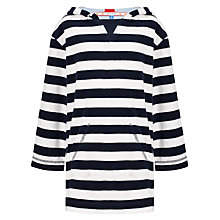 Buy John Lewis Boy Striped Poncho, Blue/White Online at johnlewis.com