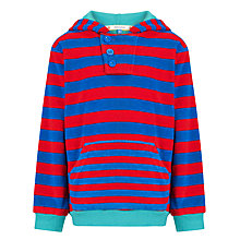 Buy John Lewis Boy Striped Towelling Hoodie Online at johnlewis.com