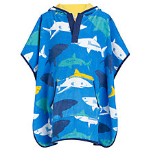 Buy John Lewis Boy Shark Beach Poncho, Blue Online at johnlewis.com