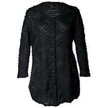 Buy Chesca Frilly Cardigan, Black Online at johnlewis.com