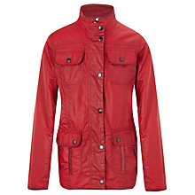 Buy Barbour Girls' Poppy Utility Jacket, Red Online at johnlewis.com