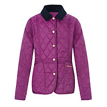 Buy Barbour Girls' Liddesdale Quilted Jacket, Purple Online at johnlewis.com