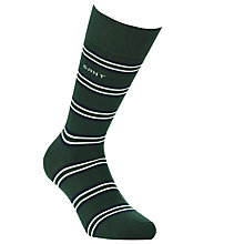 Buy Gant Multi Stripe Socks, Green Online at johnlewis.com