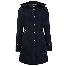 Buy Gerry Weber Drawstring Waist Parka Coat, Navy Online at johnlewis.com