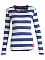 Buy Joules Gina Stripe Jersey Top, Dark Blue Stripe, 14 Online at johnlewis.com