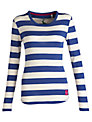 Joules Gina Stripe Jersey Top, Dark Blue Stripe