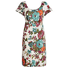 Buy Joules Macee Dress, Creme Floral Online at johnlewis.com