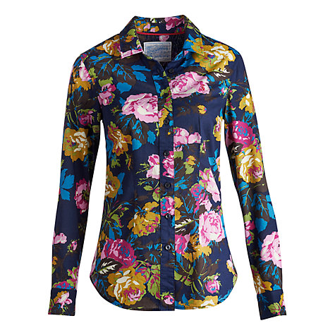 Buy Joules Maywell Floral Shirt, Navy Online at johnlewis.com