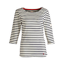 Buy Joules Harbour 3/4 Sleeve Stripe Top Online at johnlewis.com
